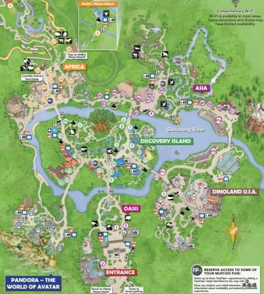 《迪士尼动物王国地图》