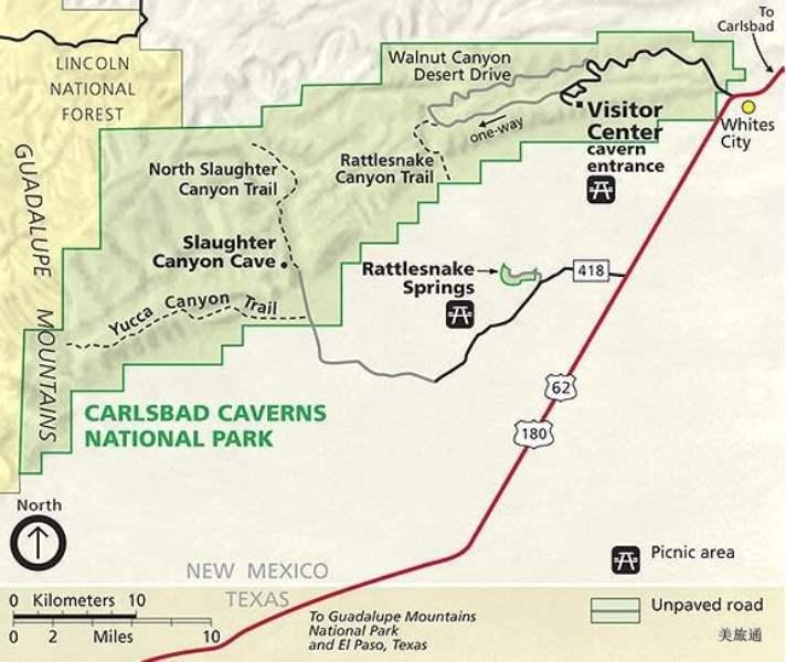 《如何去卡尔斯巴德洞窟国家公园》