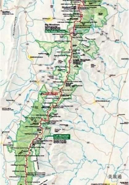 《仙纳度国家公园的地图》