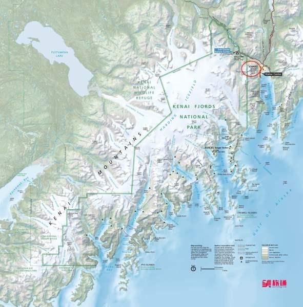 《基奈峡湾国家公园地图》