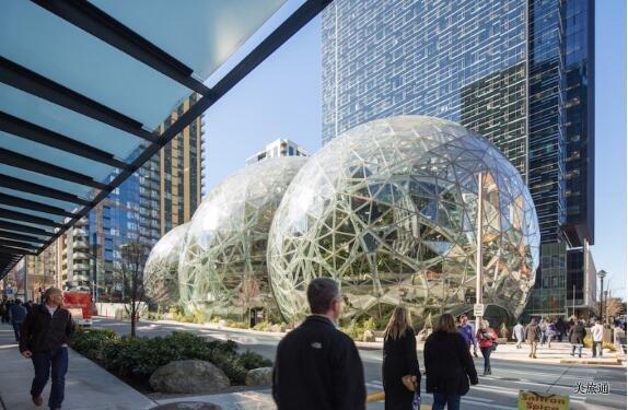 《西雅图亚马逊参观介绍 Amazon Spheres美国旅游攻略组成员 美国旅游攻略》
