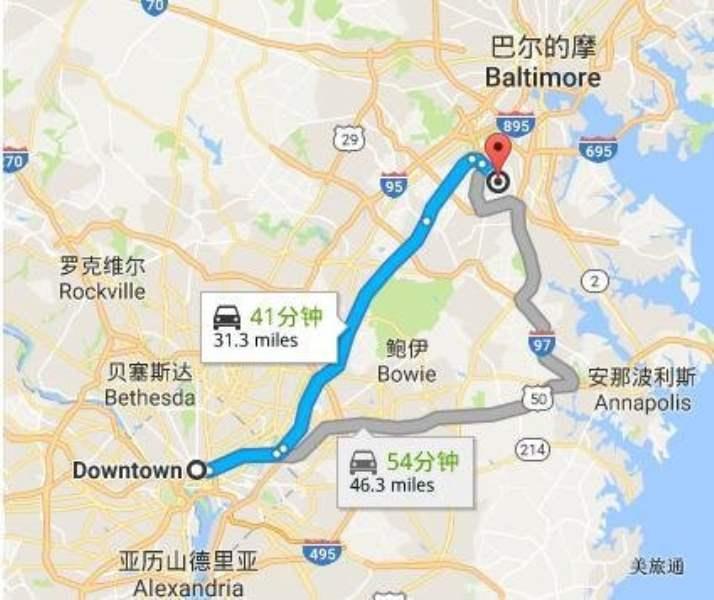 《Q. 巴尔的摩机场到华盛顿的方法?》
