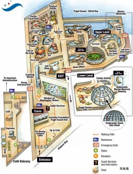 《西雅图水族馆的平面图》