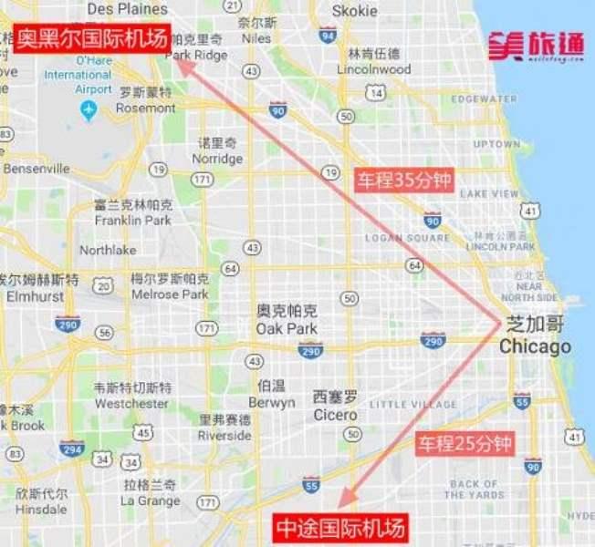 《芝加哥国际机场去市区的方法》