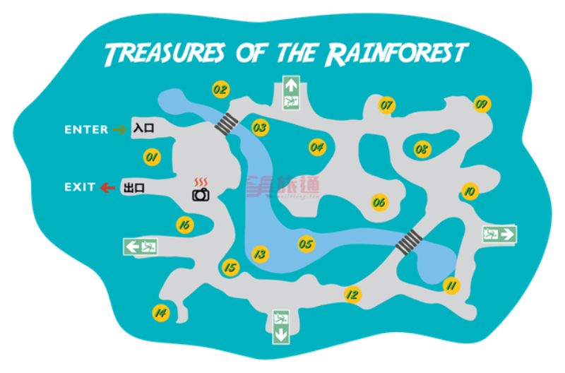 《蝴蝶园游览地图》