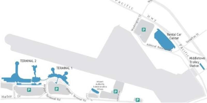 《圣迭戈国际机场,以及机场前往市区的方法》