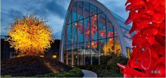 《西雅图奇胡利玻璃博物馆攻略  Chihuly Garden美国旅游攻略组成员 美国旅游攻略》