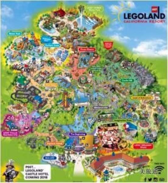《加州乐高乐园的地图》