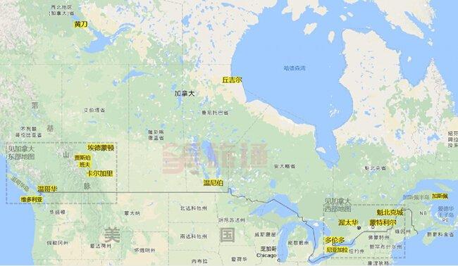 《加拿大地图》