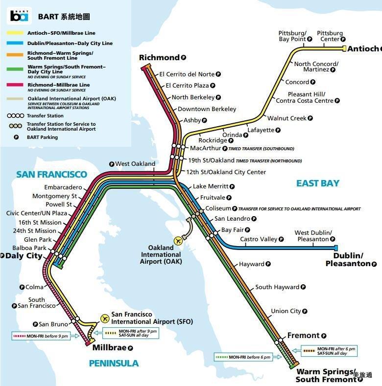《旧金山BART常见问题美国旅游攻略组成员 美国旅游攻略》