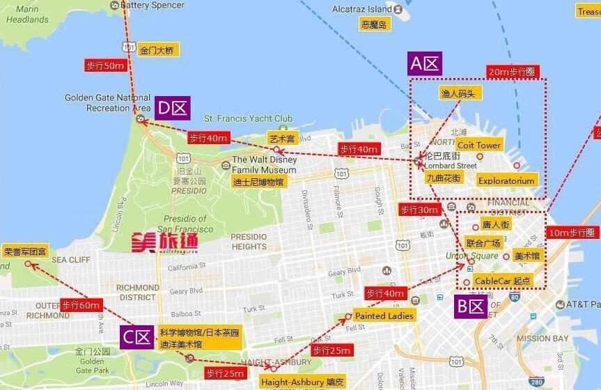 《旧金山公交攻略 Muni美国旅游攻略组成员 美国旅游攻略》