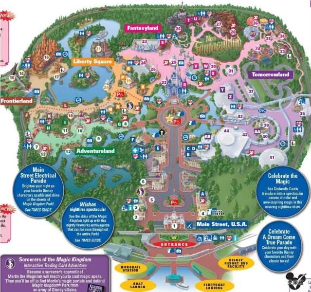 《迪士尼魔法王国地图》