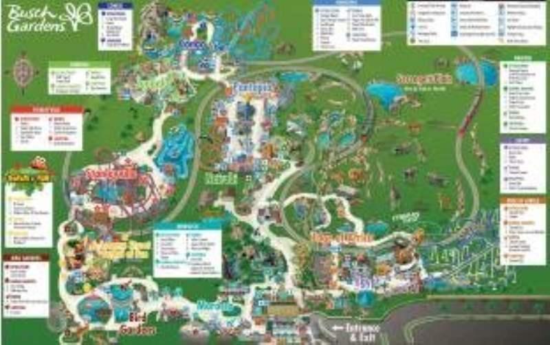 《Busch Gardens 的地图》