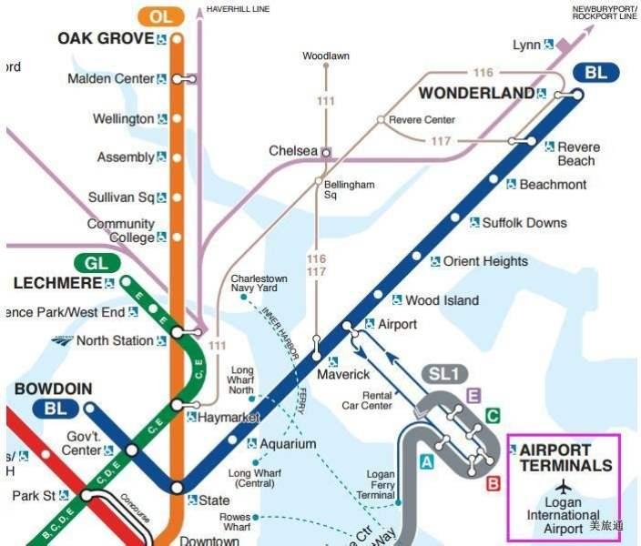 《从波士顿机场到市区的4种方法》