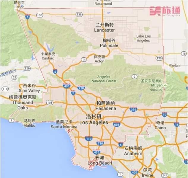 《洛杉矶的地理与气候》