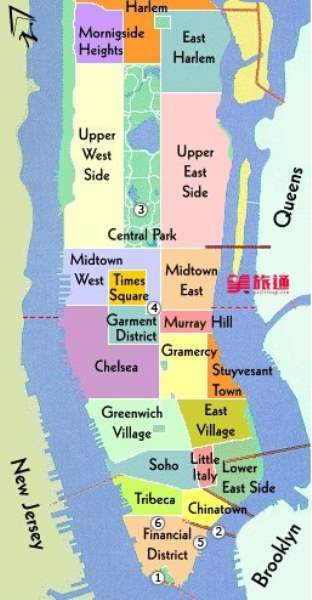 《曼哈顿的地理构成》