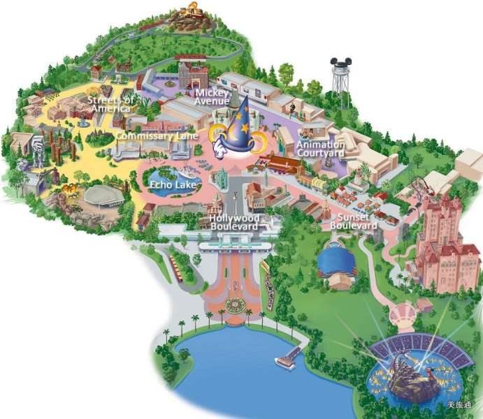 《迪士尼好莱坞影城地图》
