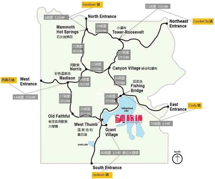 《黄石国家公园地图》