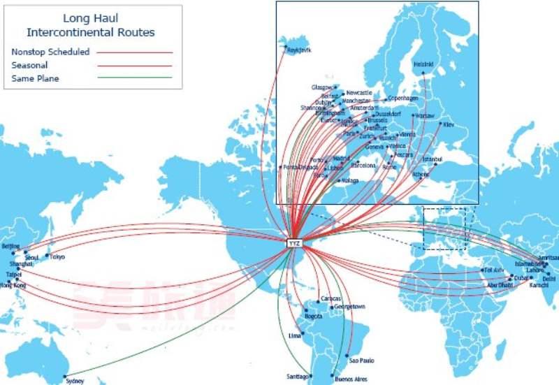 《多伦多与周边地区的航空交通》