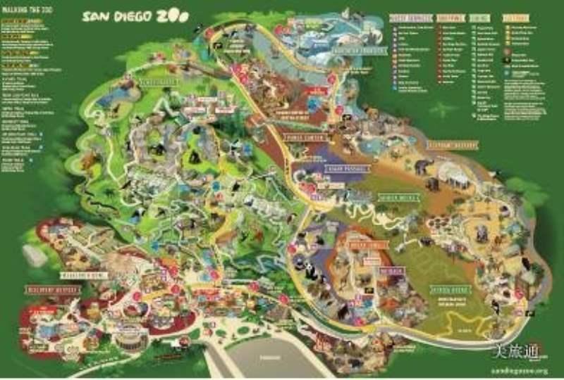 《圣迭戈动物园如何玩与地图》