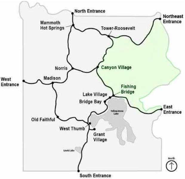 《Canyon Village 区域介绍》