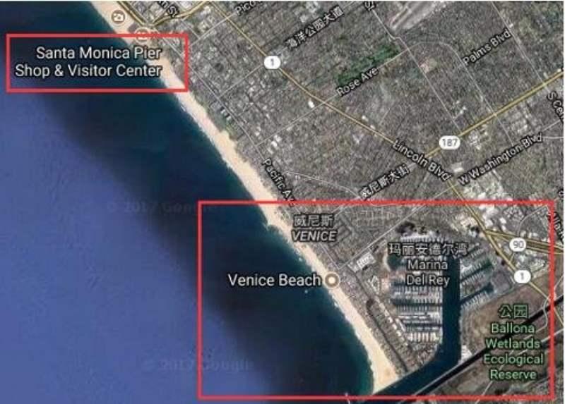 《圣莫妮卡海滩 Santa Monica State Beach 与 Venice Beach》