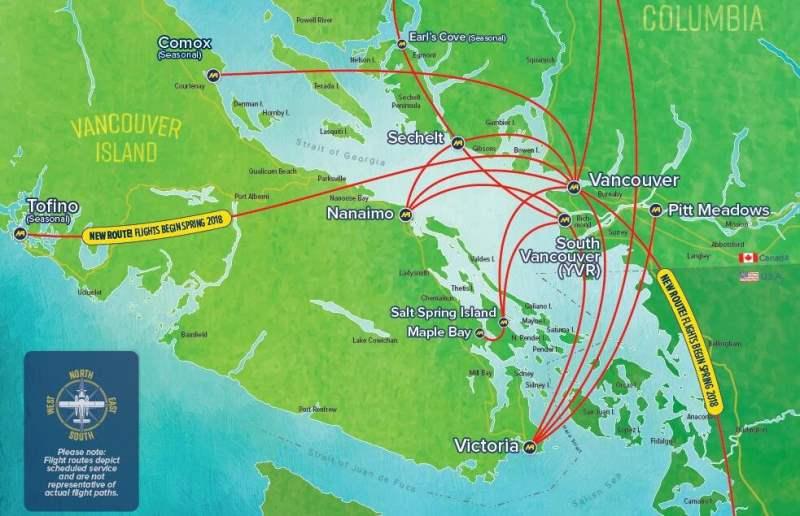 《温哥华到维多利亚的航空交通》
