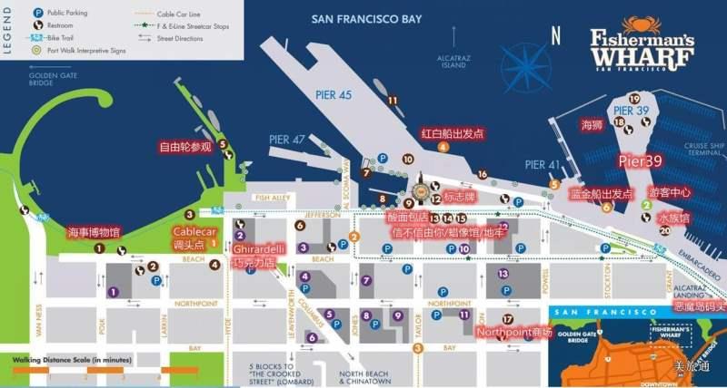 《渔人码头区域的景点地图》