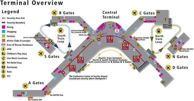 《Q. 是否有航站楼平面图?》