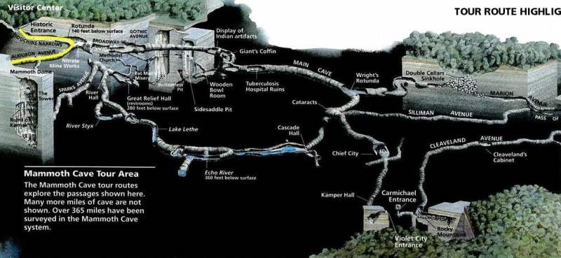 《猛犸洞国家公园的地图》
