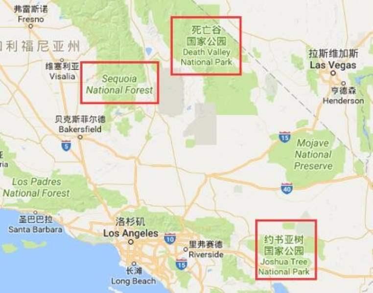 《洛杉矶周边的国家公园》