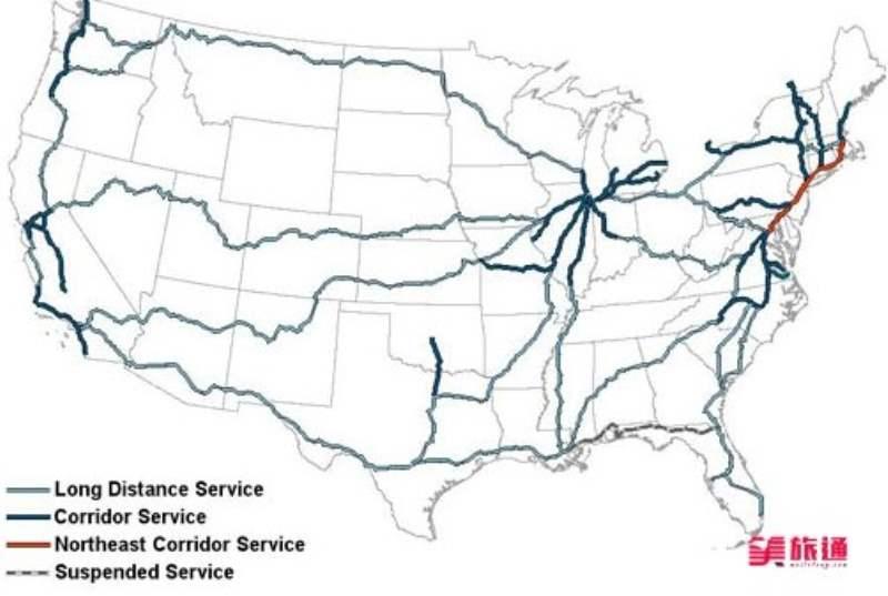 《Amtrak的线路》