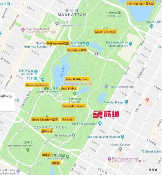 《纽约中央公园的地图》