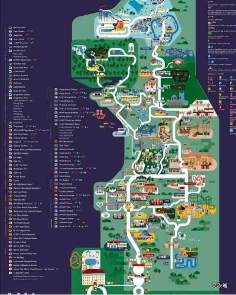 《乐高主题公园的地图》