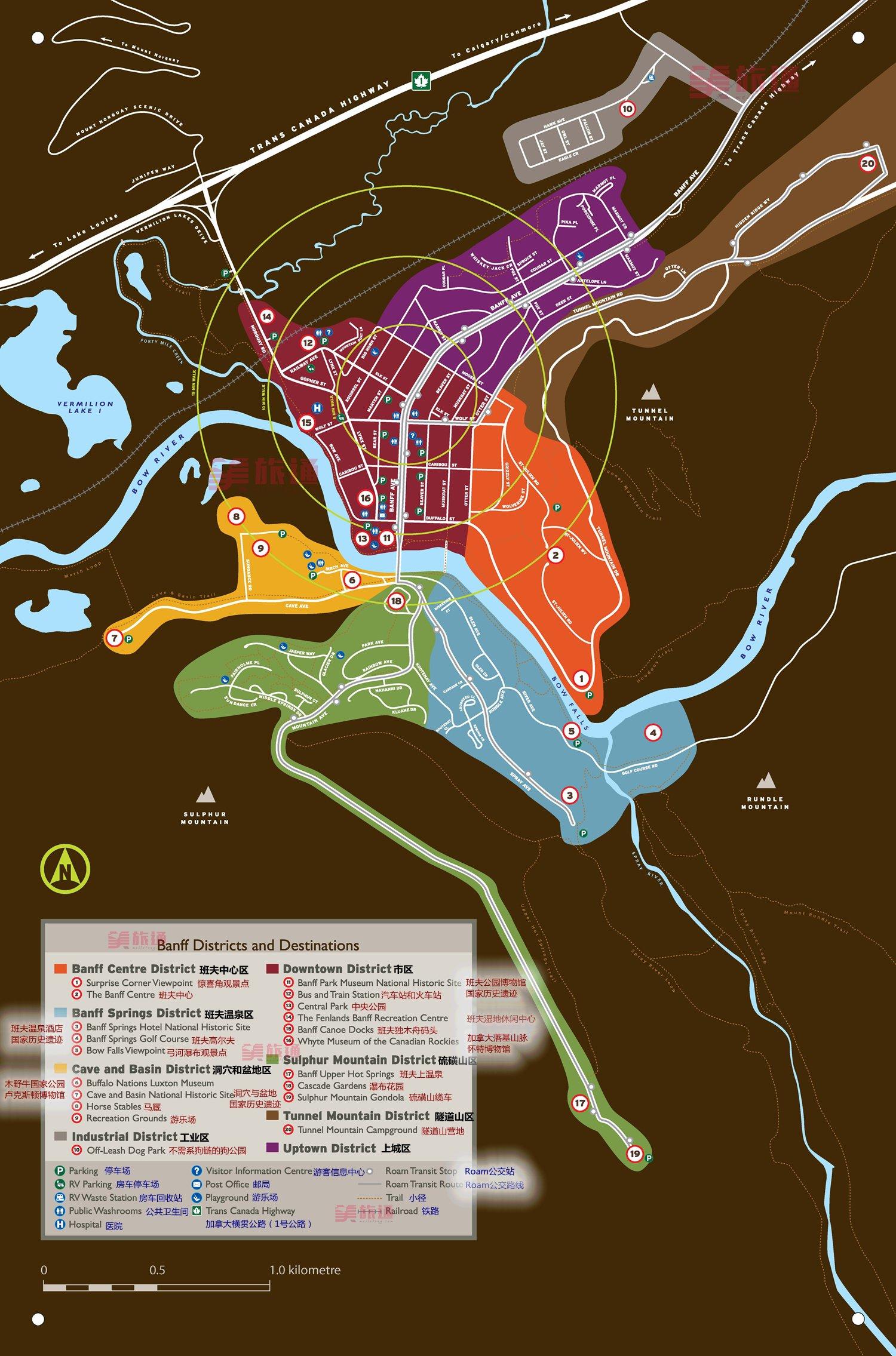 《班夫镇地图》