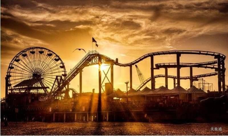 《圣莫妮卡景点 - 码头 Santa Monica Pier》