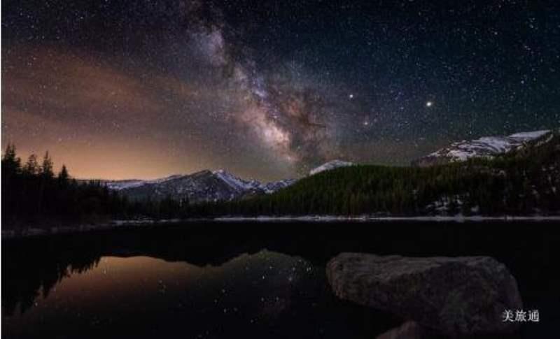《洛基山国家公园的观星》