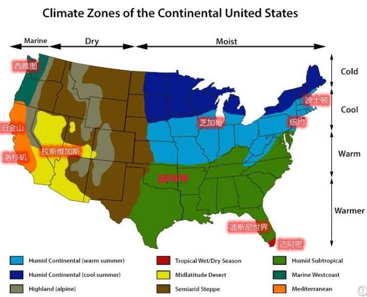 《关于美国的气候》