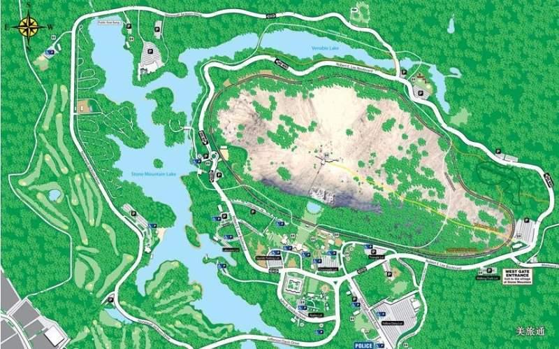 《石山州立公园的地图》