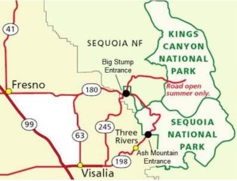 《红杉和国王峡谷国家公园的住宿》