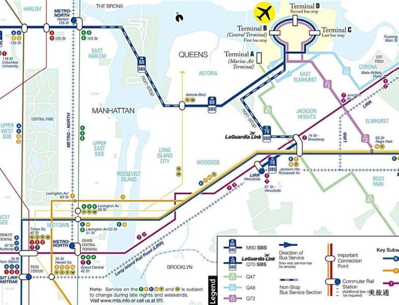 《拉瓜迪亚机场到曼哈顿市区的方法》