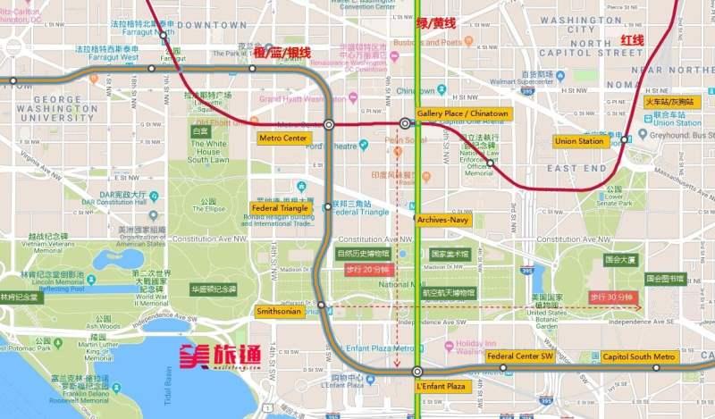 《华盛顿特区的地图》