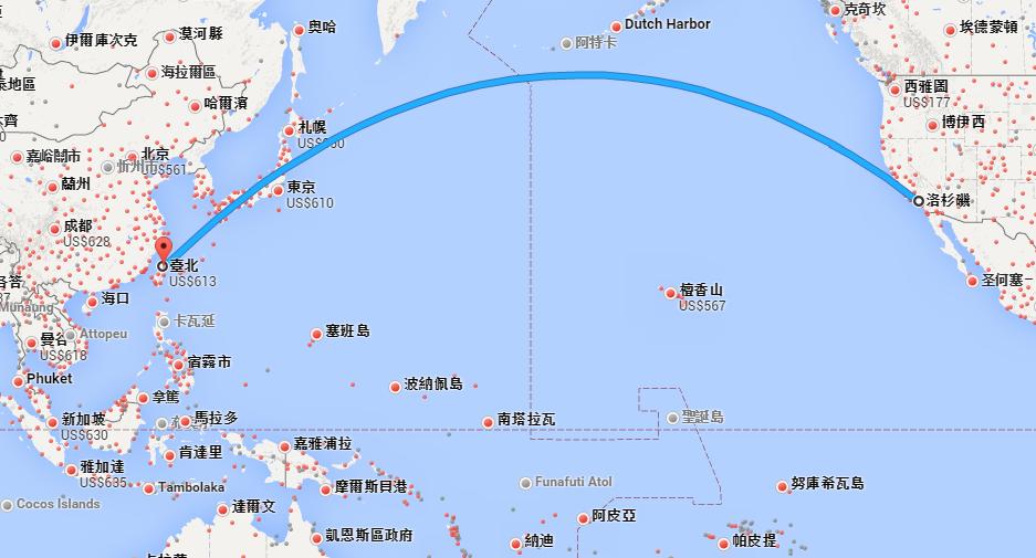 《台北至洛杉矶机票价格,特价机票》